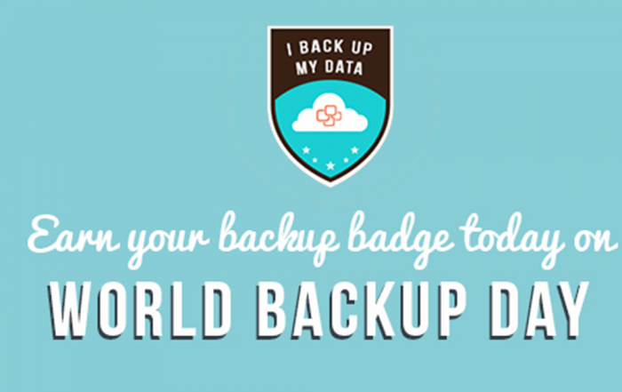 Earn your backup badge this World Backup Day
